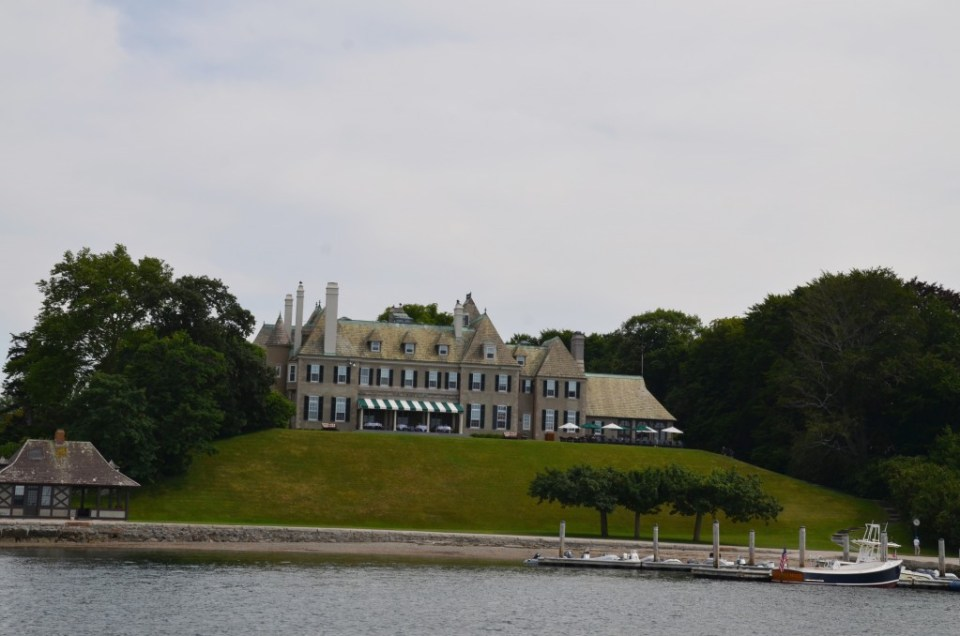 Newport mansion overlooking the harbor.