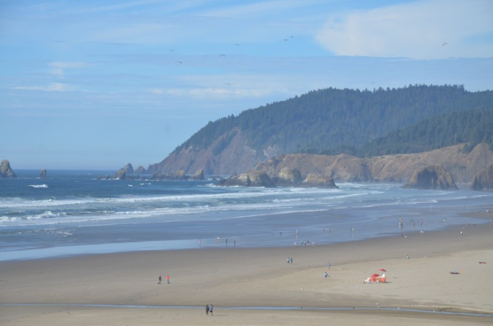 First view of the Oregon coast