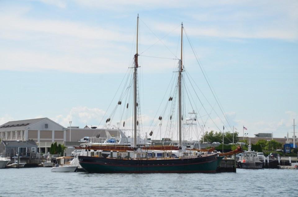 Sailing ship in Newport Harbor.
