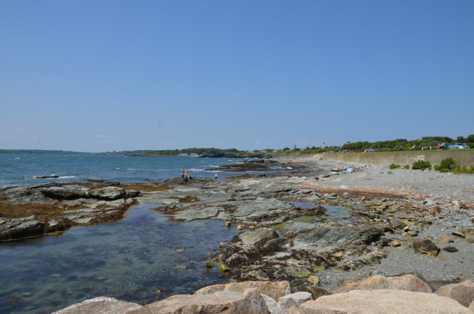 Shoreline beside Ocean Drive.