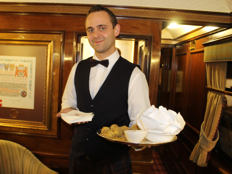 Fares aboard the Royal Scotsman include all meals, drinks and daytime activities.
