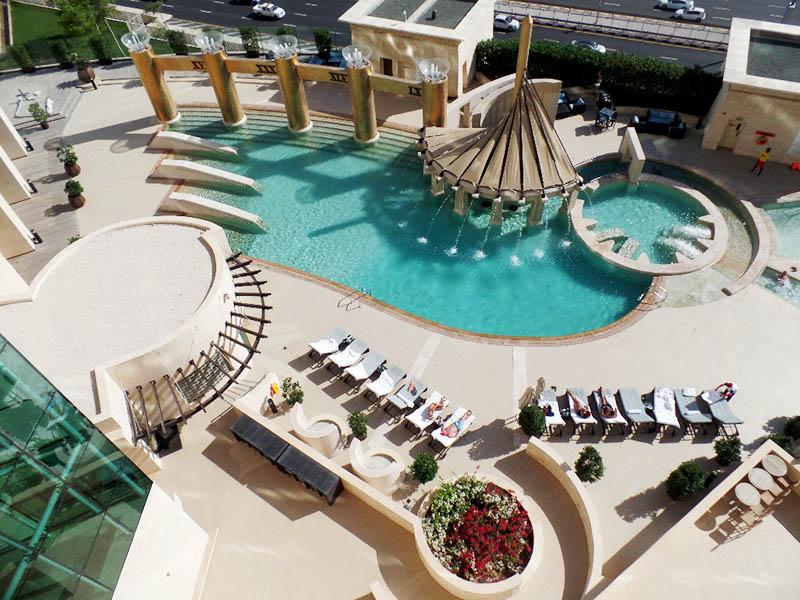 The Wow Factor Pool at Raffles Dubai