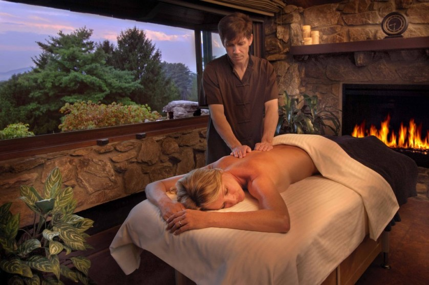 Mountain View Massage offered year round in their outdoor pagoda