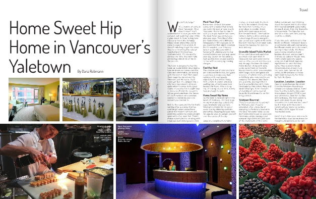 Dana's article, Home Sweet Hip Home in Vancouver's Yaletown
