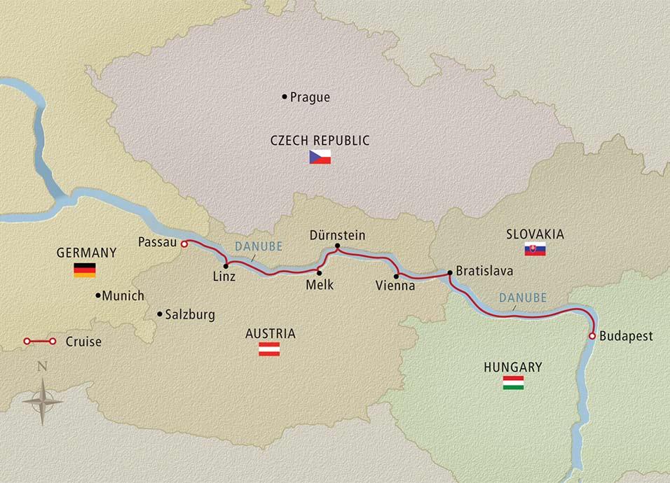 Danube Waltz itinerary