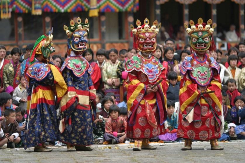 Festival Masked Dance - Photo Credit Tourism Council of Bhutan