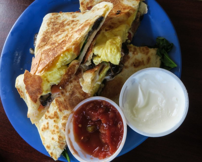 Breakfast Quesadillas at the Java Joint.