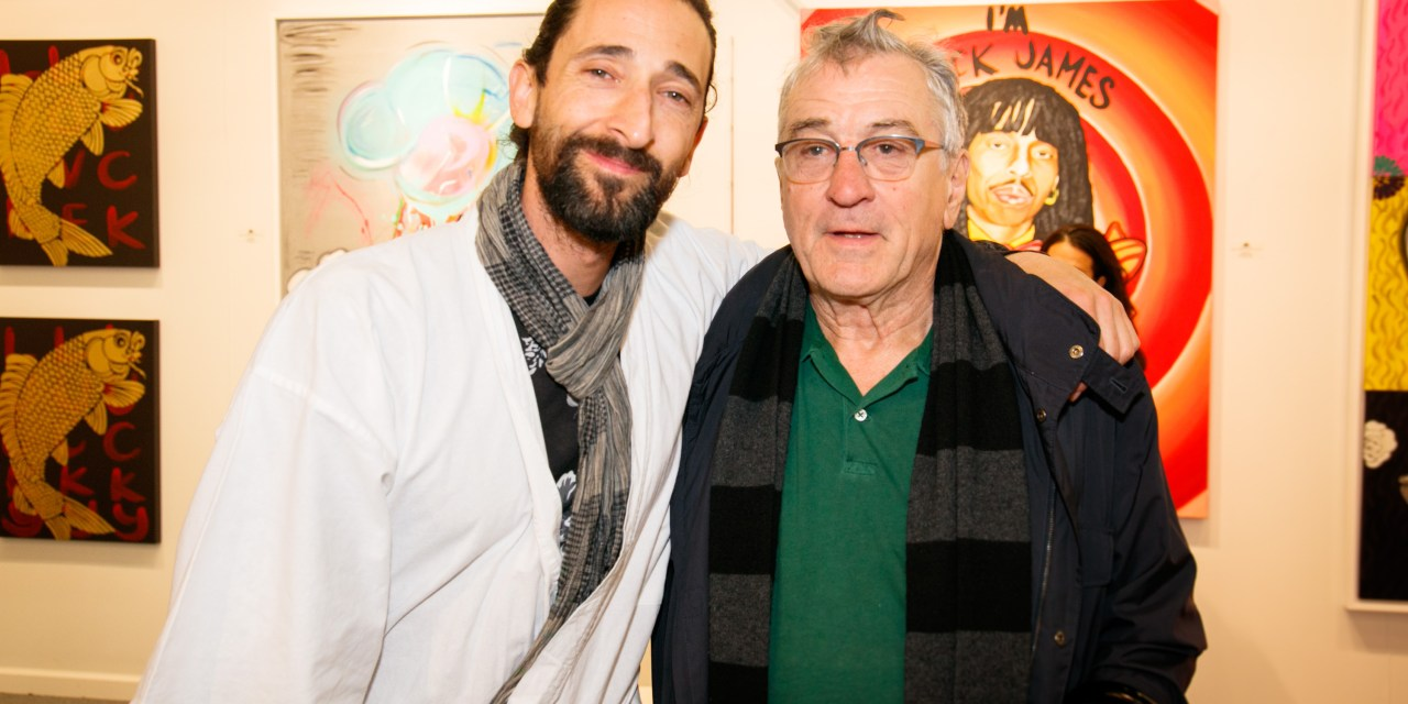 """Adrien Brody's exhibit """"Hooked"""" Star-Studded Opening"""