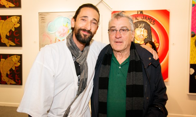 "Adrien Brody's exhibit ""Hooked"" Star-Studded Opening"