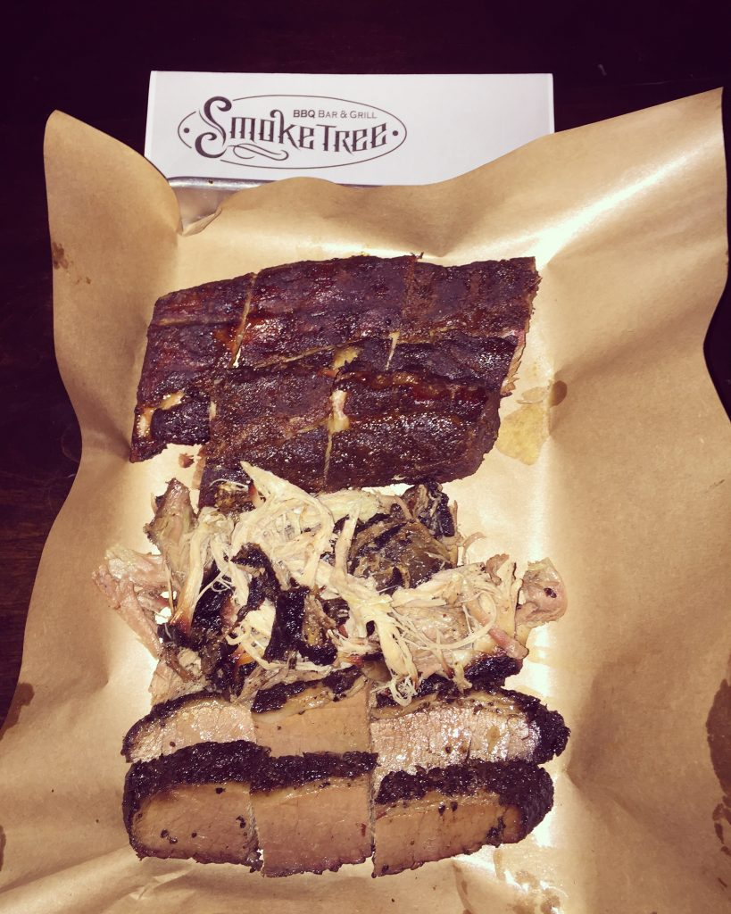 (Great smoked meats at Smoketree BBQ - Photo by Jill Weinlein)