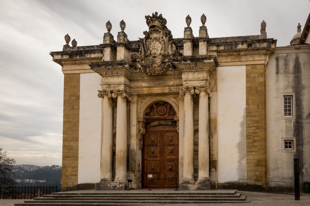 Exterior of the Coimbra University Library.