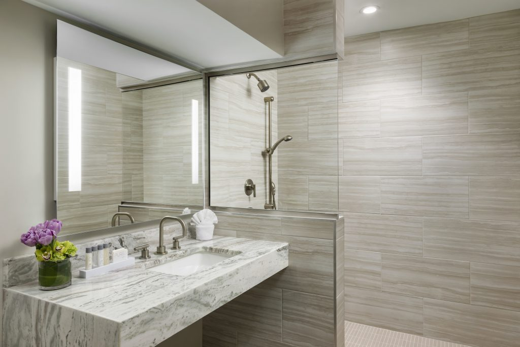Garden-Suite-Bathroom at Boston Park Plaza, Photo Credit Christine Gatti