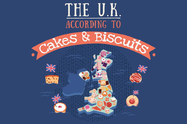 The UK according to cakes and biscuits
