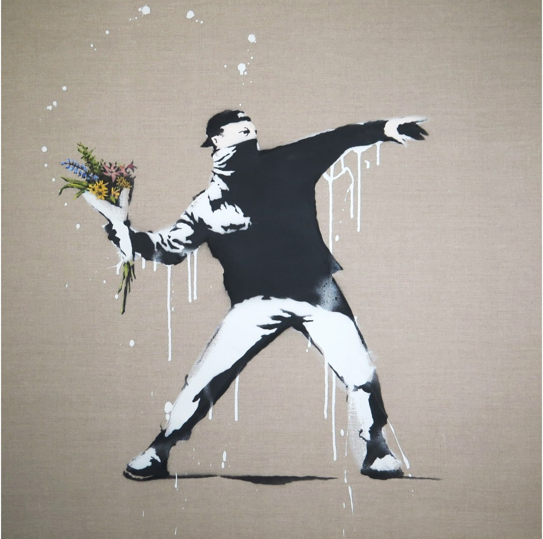 Banksy Flower Thrower_photo Shannon Webster
