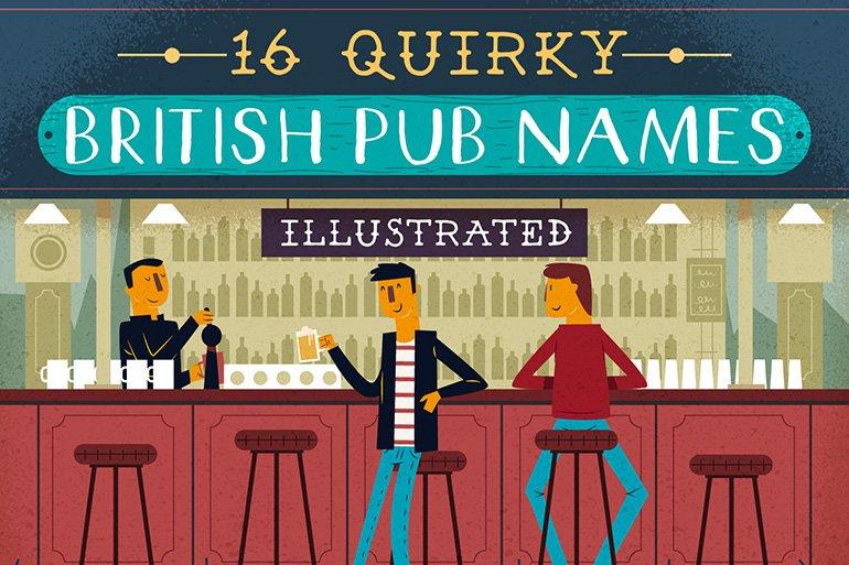 16 quirky British pub names illustrated