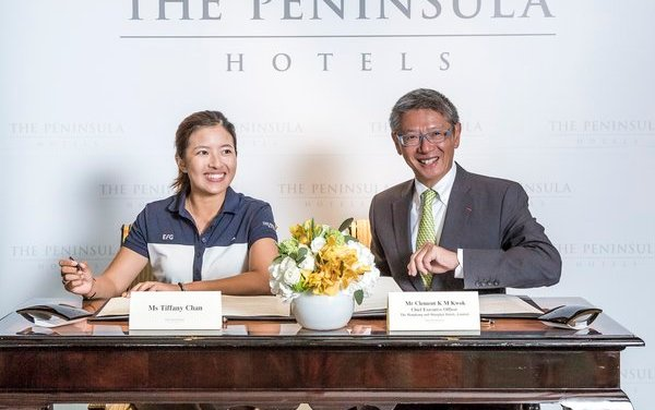The Peninsula Hotels announces partnership with Hong Kong LPGA golfer Tiffany Chan