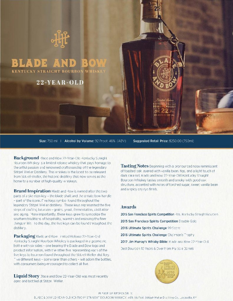 Blade and Bow 22 Fact Sheet