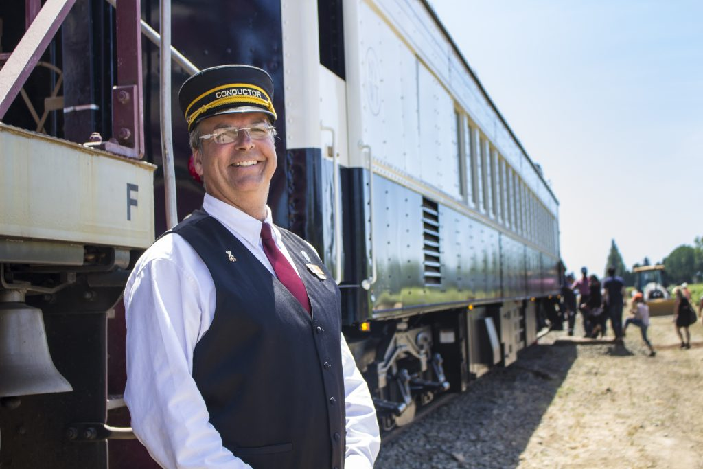Napa Valley Wine Train conductor