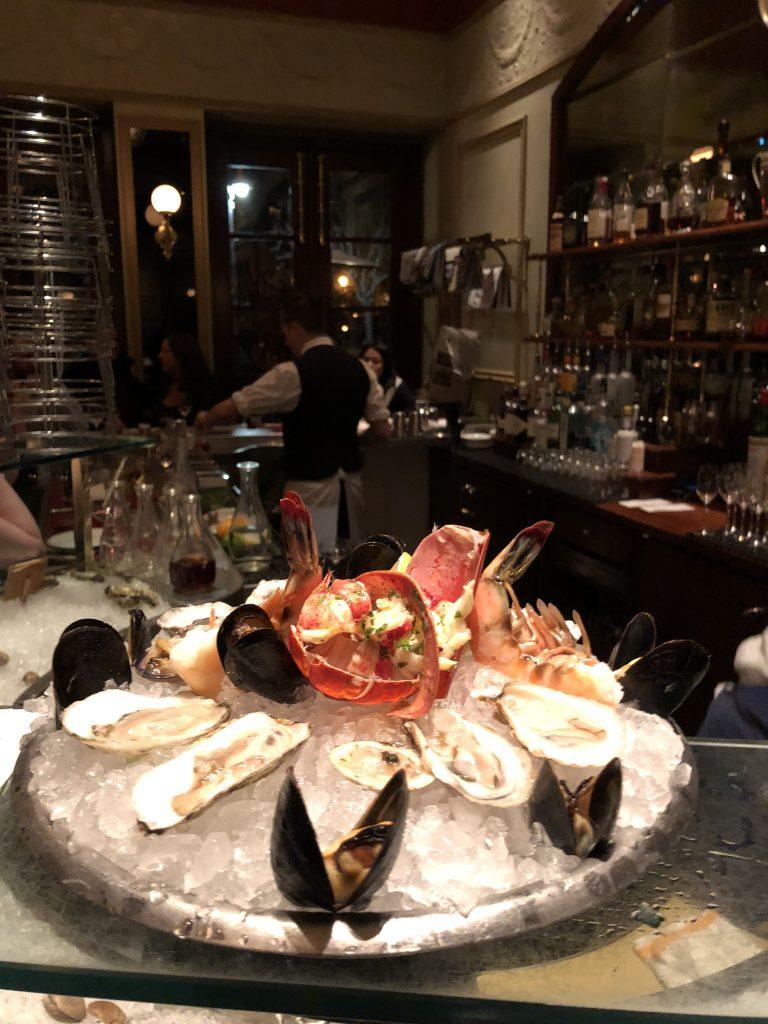 A succulent seafood platter at Thoms Keller's - Bouchon Restaurant