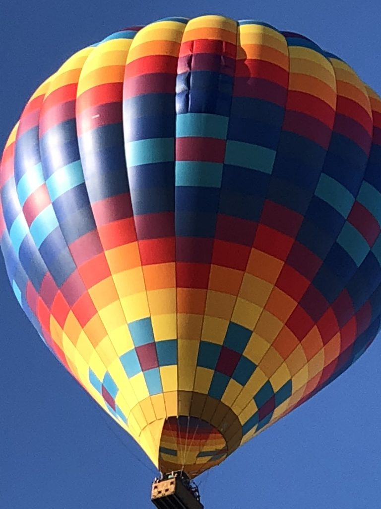 Napa Valley Aloft balloon rides departs out of V Marketplace in the heart of Yountville
