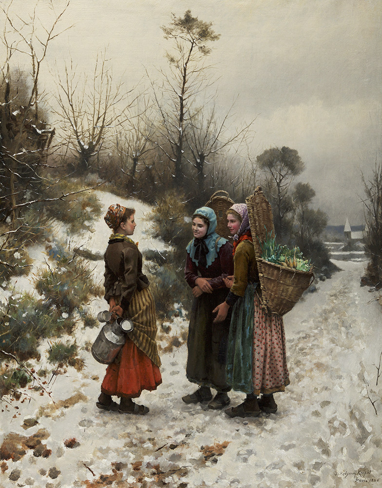 long lost painting by daniel ridgway knight surfaces. Black Bedroom Furniture Sets. Home Design Ideas