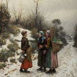 Long Lost Painting by Daniel Ridgway Knight Surfaces