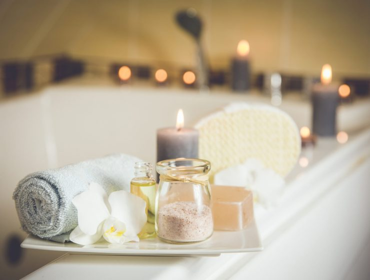 relaxing bath scene for sleep