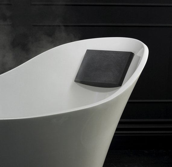 Victoria + Albert Amalfi bath headrest is distributed in Queensland by Luxe by Design, Australia.