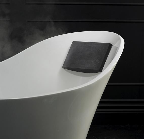 Victoria + Albert Amalfi bath headrest is distributed in Queensland by Luxe by Design, Australia.