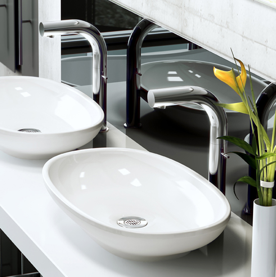 Victoria + Albert Cabrits 55 basin in volcanic limestone is distributed in Queensland by Luxe by Design, Brisbane.