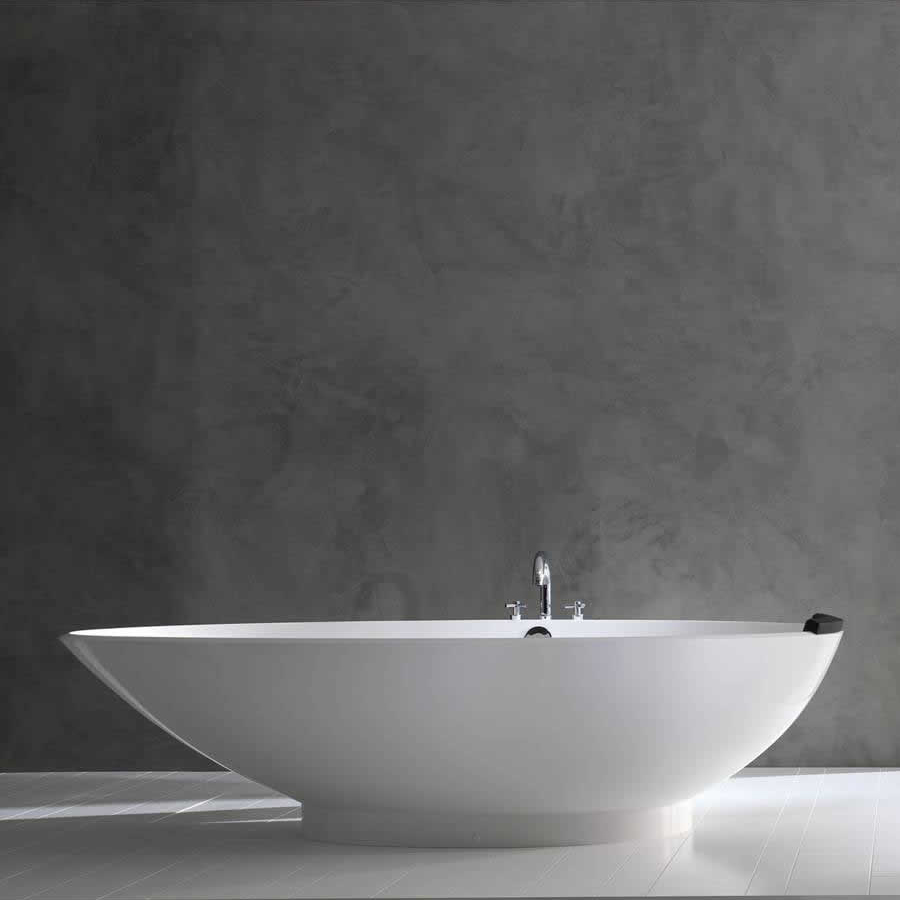 Victoria + Albert Napoli in volcanic limestone is distributed in Quenesland by Luxe by Design, Brisbane.