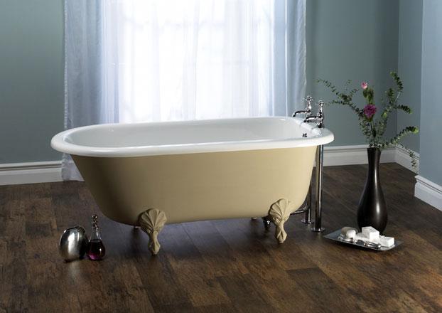 Victoria + Albert Wessex bath in Buff finish- by Luxe by Design, Brisbane.
