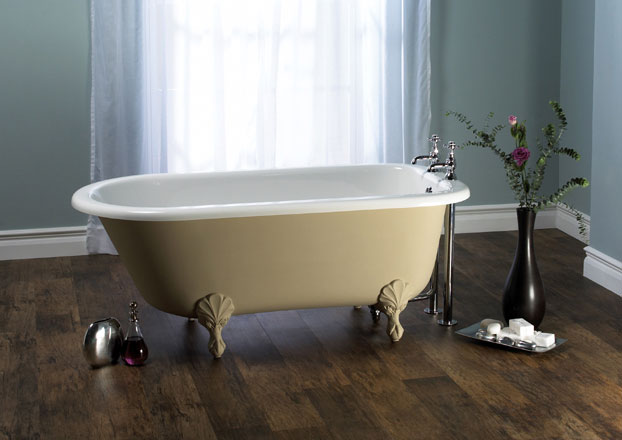 Victoria + Albert Wessex bath in Buff finish- by Luxe by Design, Brisbane.