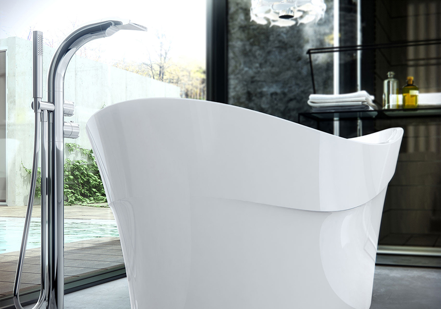 Victoria + Albert Pescadero bath is distributed to Sydney, Melbourne, Brisbane, Canberra and Hobart by Luxe by Design.