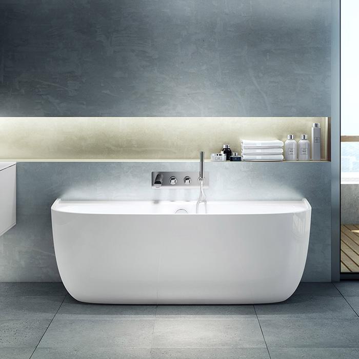 Victoria + Albert Eldon built-in freestanding bath. Distributed in Australia by Luxe by Design, Brisbane.
