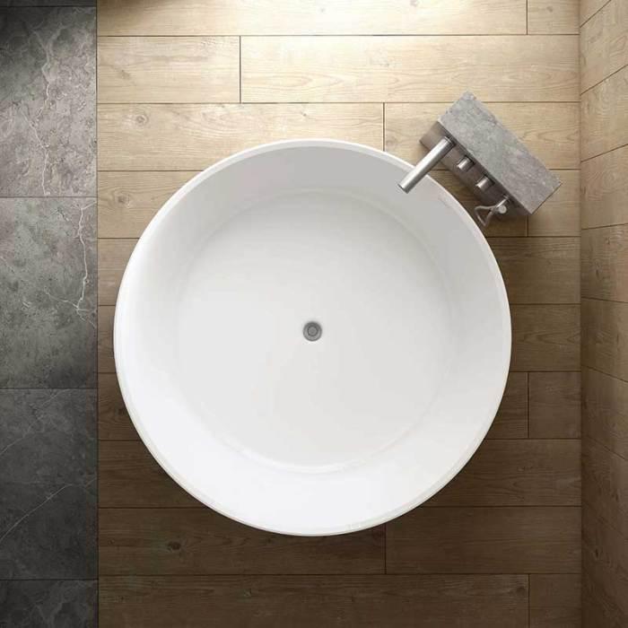Victoria + Albert Taizu round bath. Distributed in Australia by Luxe by Design, Brisbane.