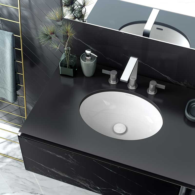 Victoria + Albert Kaali 46 undermount basin. Recessed stone basin, distributed in Australia by Luxe by Design, Brisbane.
