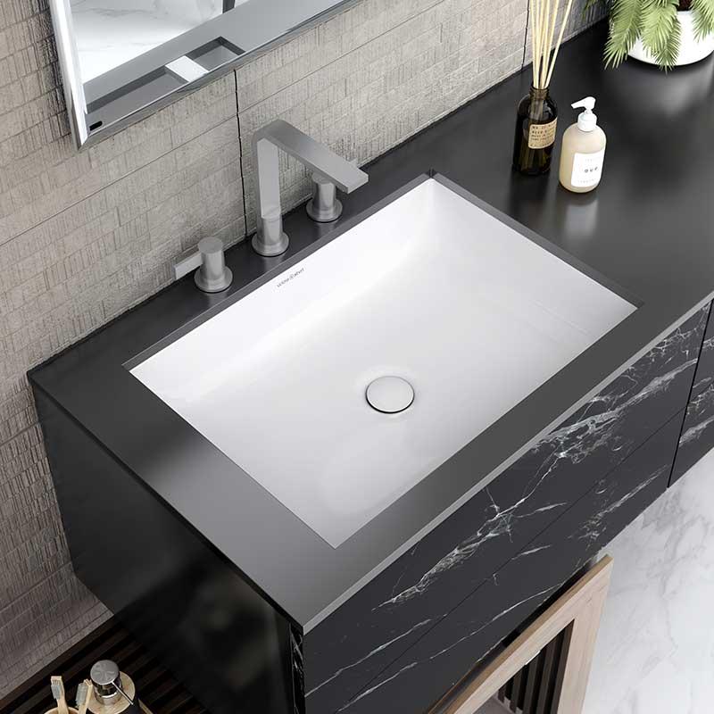 Victoria + Albert Kaldera 62 undermount rectangular basin. Distributed in Australia by Luxe by Design, Brisbane.