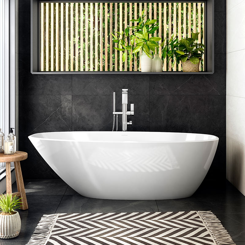 Victoria + Albert Mozzano 2 larger freestanding bath. Distributed in Australia by Luxe by Design, Brisbane.
