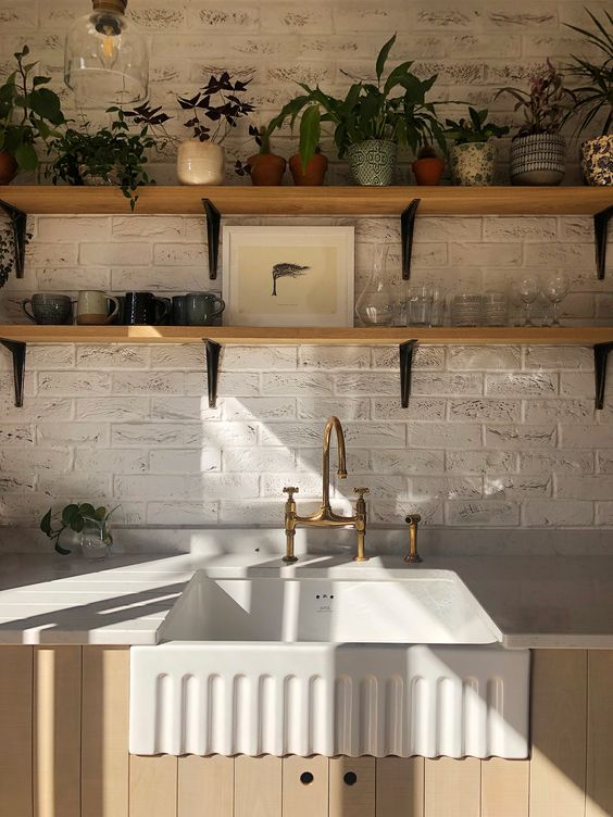 Shaws Bowland 600 fireclay butler sink. Distributed in Australia by Luxe by Design, Brisbane.
