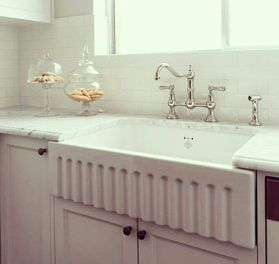 Shaws Bowland 800 fireclay butler sink. Distributed in Australia by Luxe by Design, Brisbane.