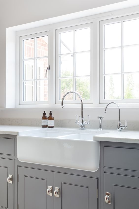 Shaws Double Bowl 800 fireclay butler sink. Distributed in Australia by Luxe by Design, Brisbane.
