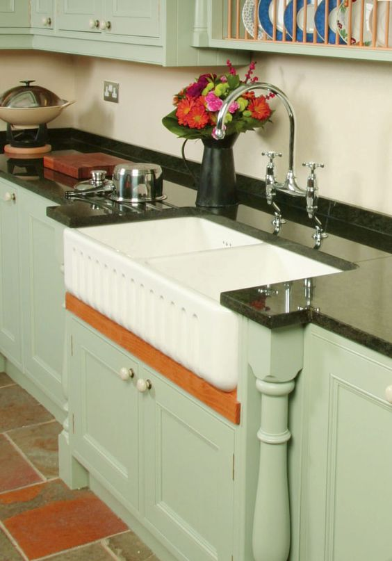 Shaws Ribchester 800 fireclay butler sink. Distributed in Australia by Luxe by Design, Brisbane.