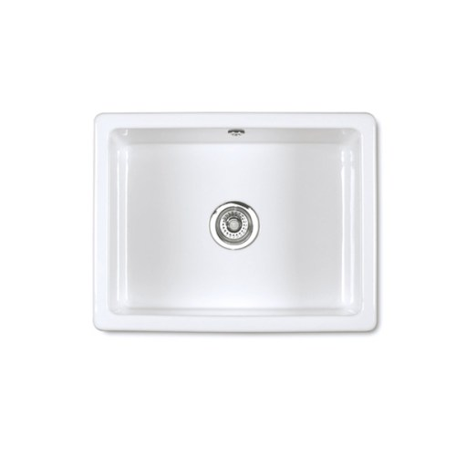 Shaws Inset 800 undermount sink. Single bowl 800mm fireclay sink by Shaws of Darwen, England. Imported and distributed in Australia by Luxe by Design, Brisbane.
