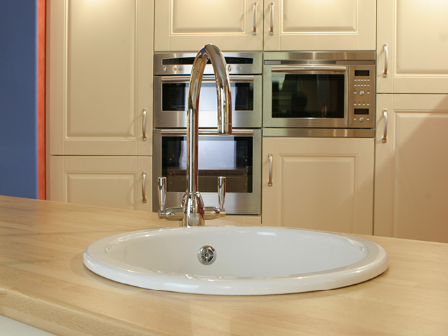 Shaws Round undermount sink. Single bowl 460mm fireclay sink by Shaws of Darwen, England. Imported and distributed in Australia by Luxe by Design, Brisbane.