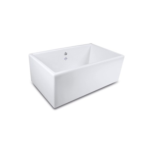 Shaws Shaker Single 800 Sink. 800mm single bowl fireclay butler sink by Shaws of Darwen, England. Imported and distributed in Australia by Luxe by Design, Brisbane.