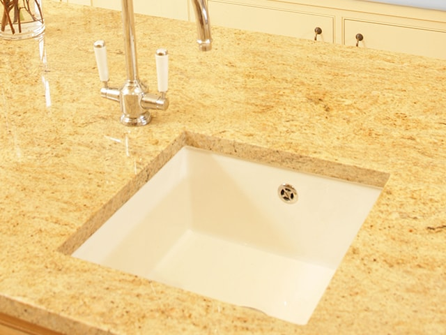 Shaws Square inset undermount sink. Single bowl 460m fireclay sink by Shaws of Darwen, England. Imported and distributed in Australia by Luxe by Design, Brisbane.