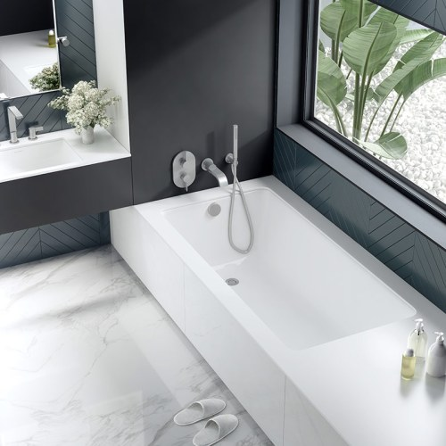Victoria + Albert Kaldera 4 inset undermount bath 1500mm. Distributed in Australia by Luxe by Design, Brisbane.