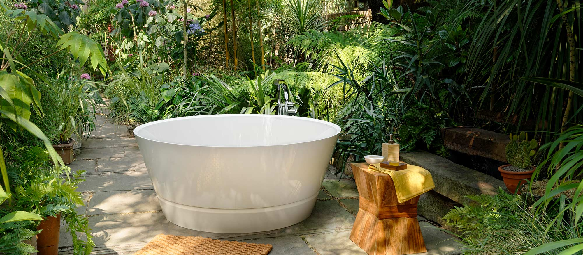 Victoria + Albert Taizu round 1500mm bath. Distributed in Australia by Luxe by Design, Brisbane.