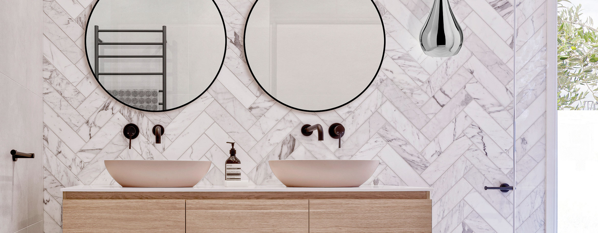 Victoria + Albert custom painted baths and basins by Luxe by Design, Australia.